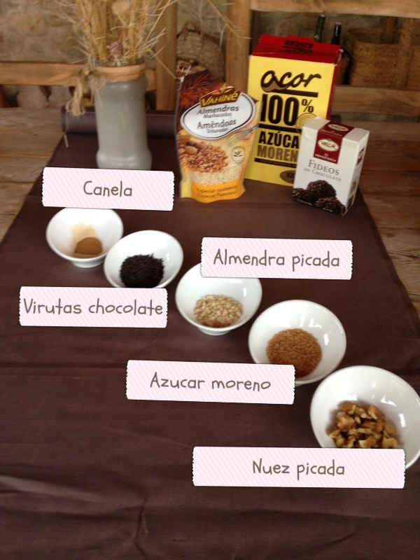 esipirales de chocolate y nueces